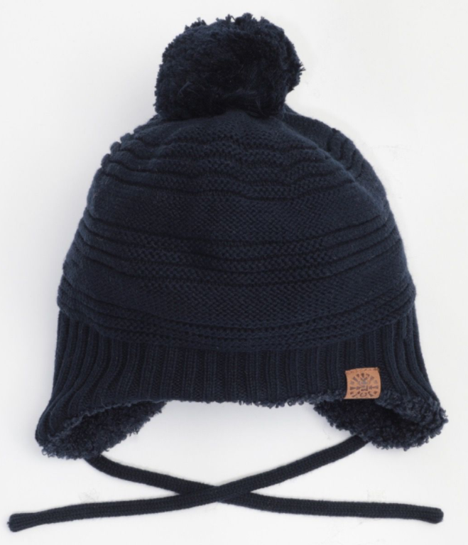 Cali Kids Cotton Teddy Knit Hat