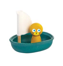 Plan Toys Plan Toys Bath Tub Explorers Sailing Seal - PBS Edition