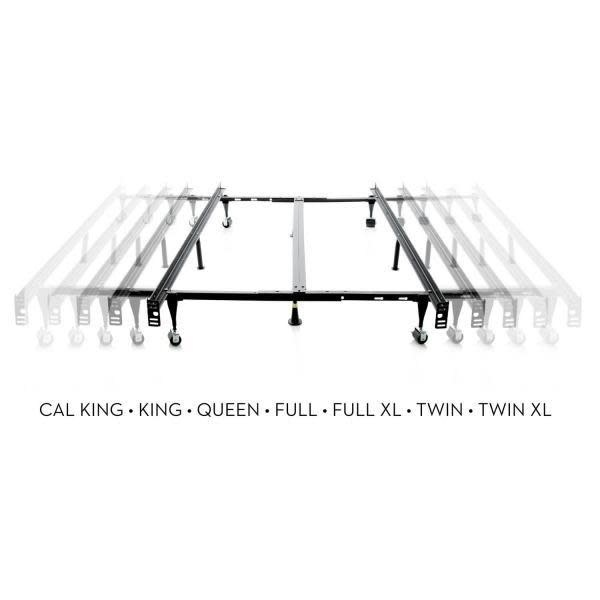 """Malouf Universal Fit Bed Frame w/ Glides by Malouf, Fits T/TXL/F/Q/K/CK, 7"""" height"""