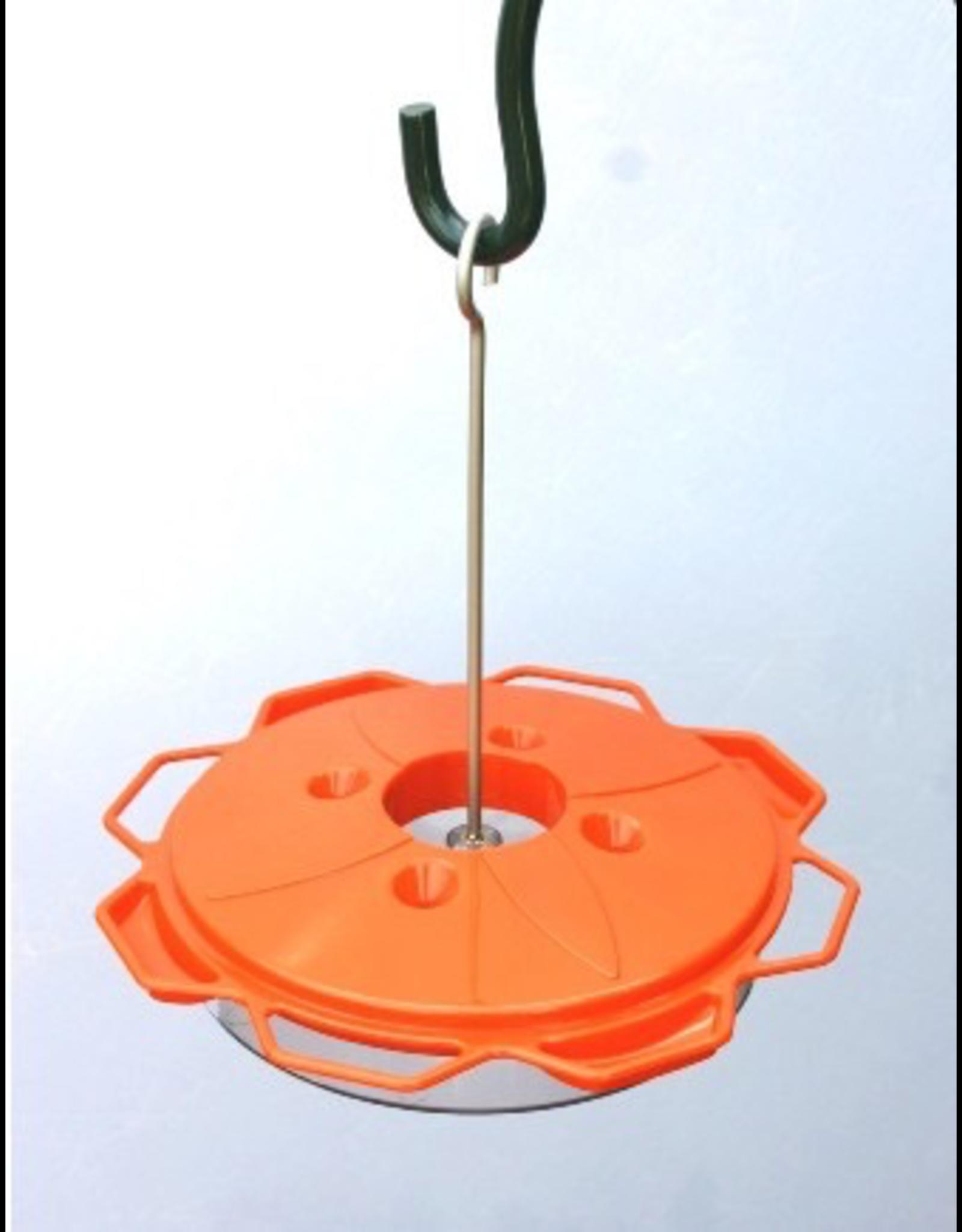 Woodlink WKWLO1 Oriole Feeder Saucer -Nectar, jelly orange on post