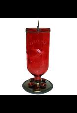 Perky Pet YH8109 Elegant Antique Glass Bottle Red Hummer feeder