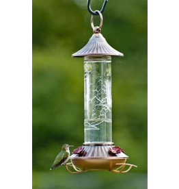 Woodlink WKWL35240 Embossed Glass Hummingbird Feeder
