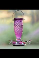 Perky Pet 9102-2 Glass Purple Diamond Hummimgbird Feeder - 24oz