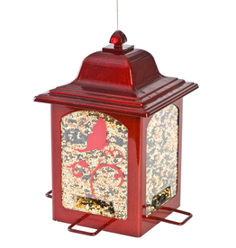 Perky Pet YH363R Red Sparkle butterfly Lantern Feeder-discontinued