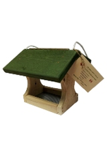 PYP Designs PYPEZG Small cedar EZ fill Fly Thru with green stained roof. Made in Canada