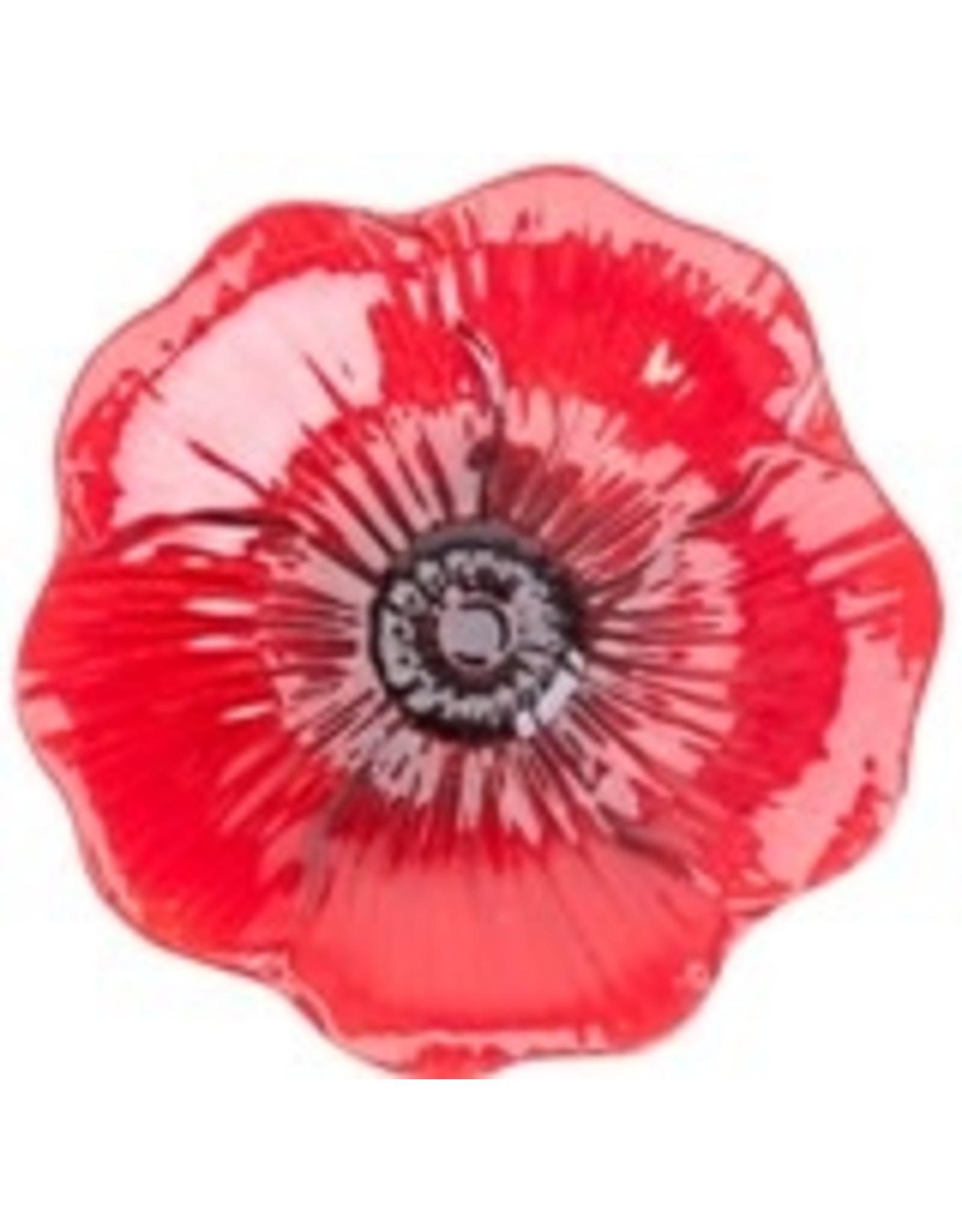 """Woodlink WK82906 16"""" Red Poppy Glass Birdbath with stand"""