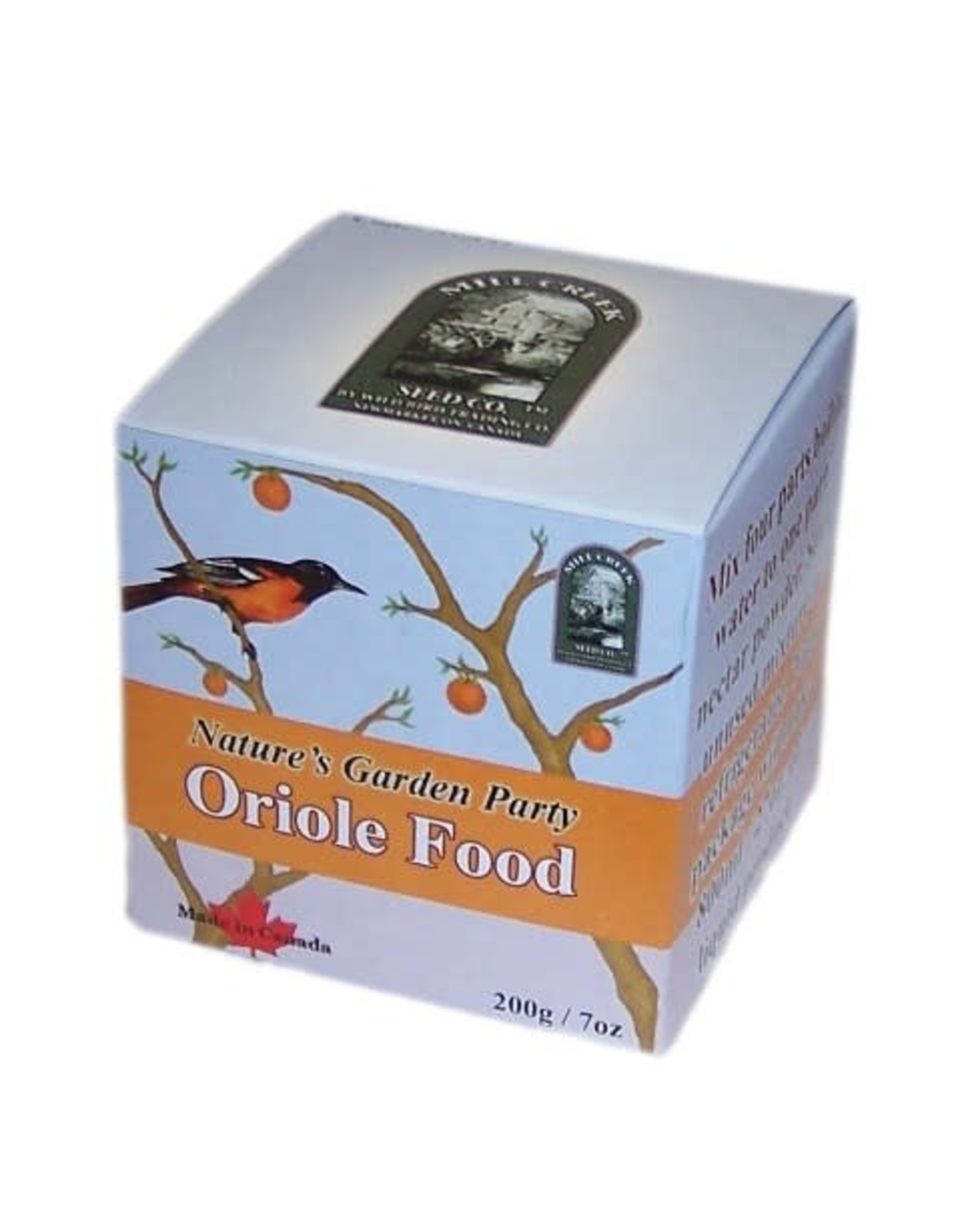 Mill Creek/Seed WFNEC-O NECTAR - ORIOLE. Made in Canada