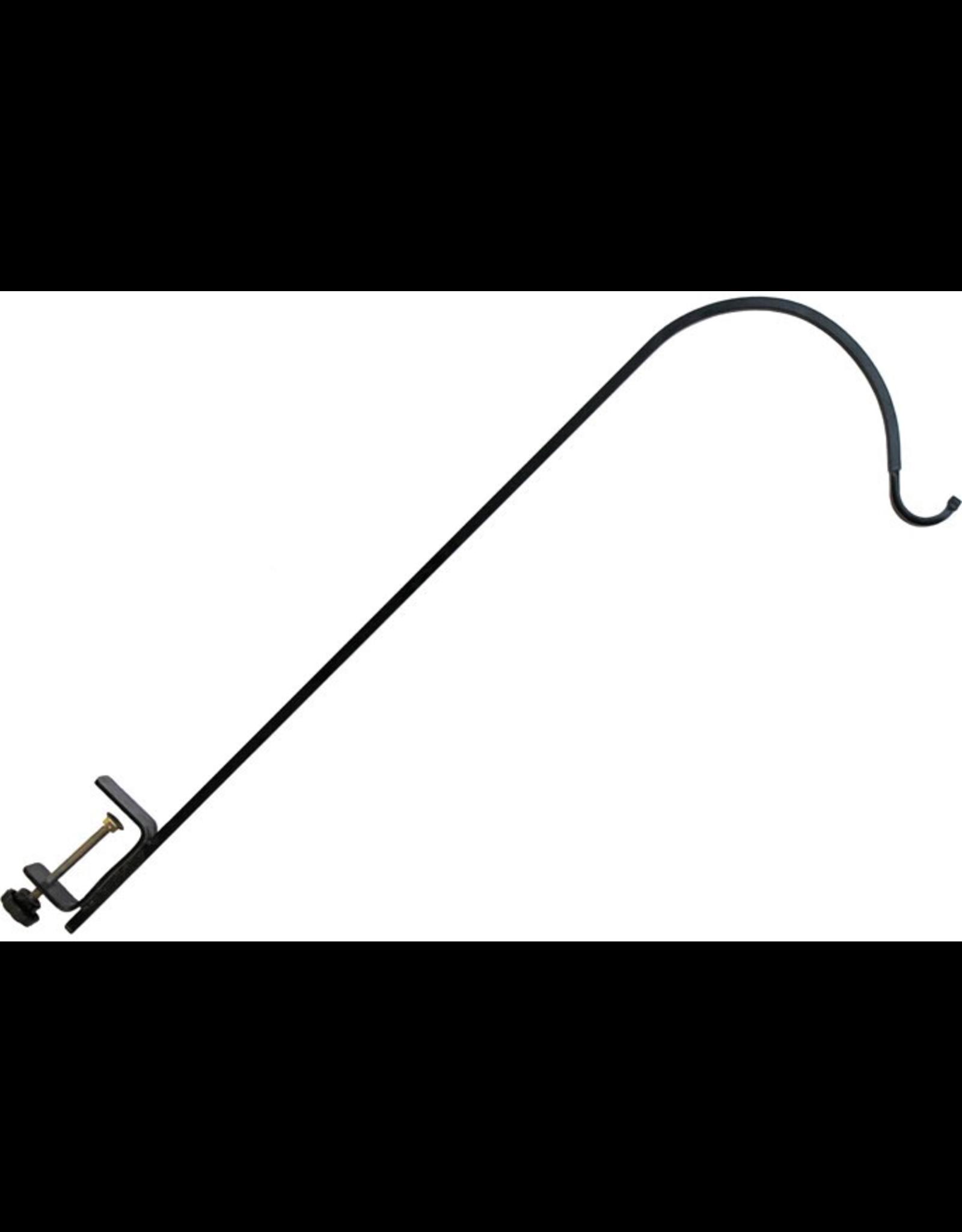 Erva ETRT2CL Wrought Iron Clamp-On Single Arm Deck Hanger