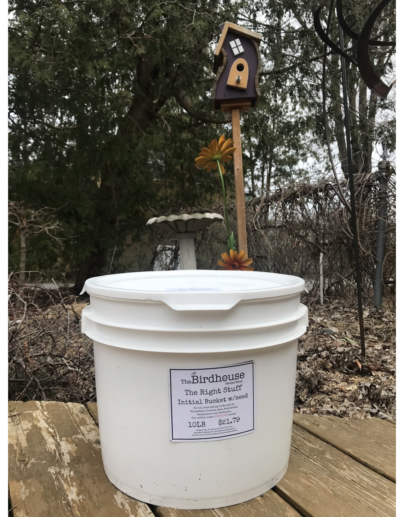 The Birdhouse Refill Program RIGHT10BKT Initial 10lb Right Stuff W/Refill Program Bucket
