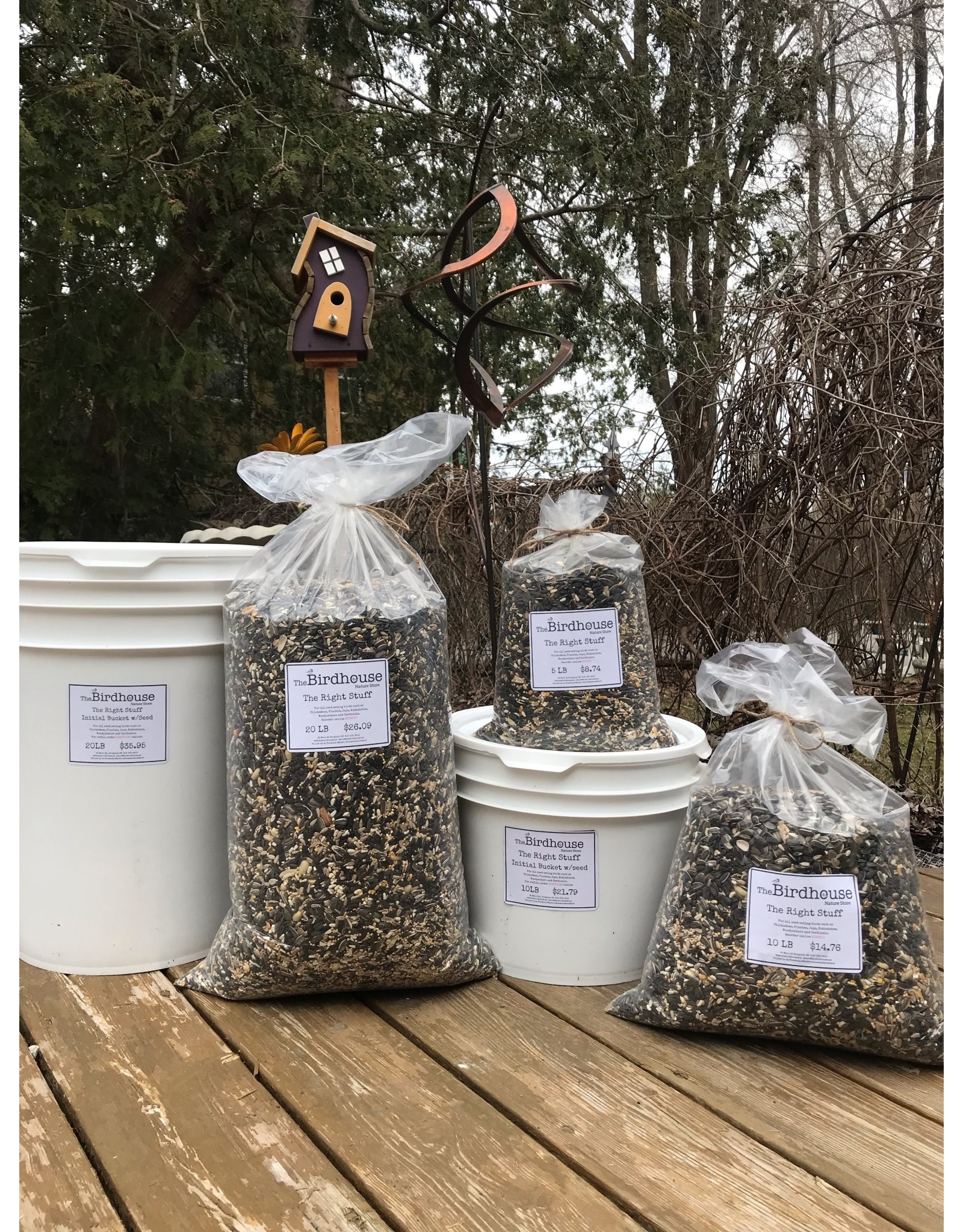 The Birdhouse RIGHT20   20lbs Right Stuff in a bag