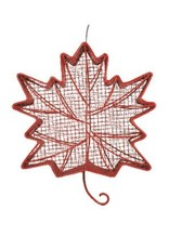 Pinebush PB10071 Red Maple Leaf BO/pnut feeder meshd