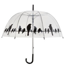 North American Country Home NACHTP166  Clear Umbrella with Black Birds