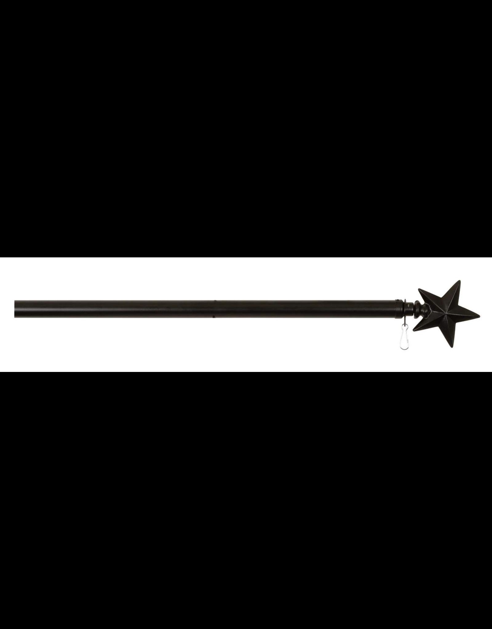 "Edenborough EL60755 60"" Black Star Flag pole"