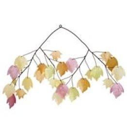 Capiz EEWSC721 Autumn Leaves Capiz Chime
