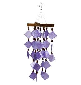 Capiz EEWSCDCU Diamond Capiz Chime - Purple