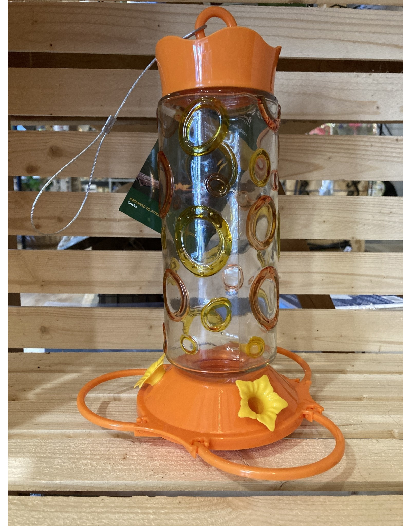 Pinebush PB88050  Coloured Rings Glass Oriole Feeder