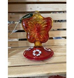 Pinebush PB88057 Butterfly Shape Glass Hummingbird Feeder