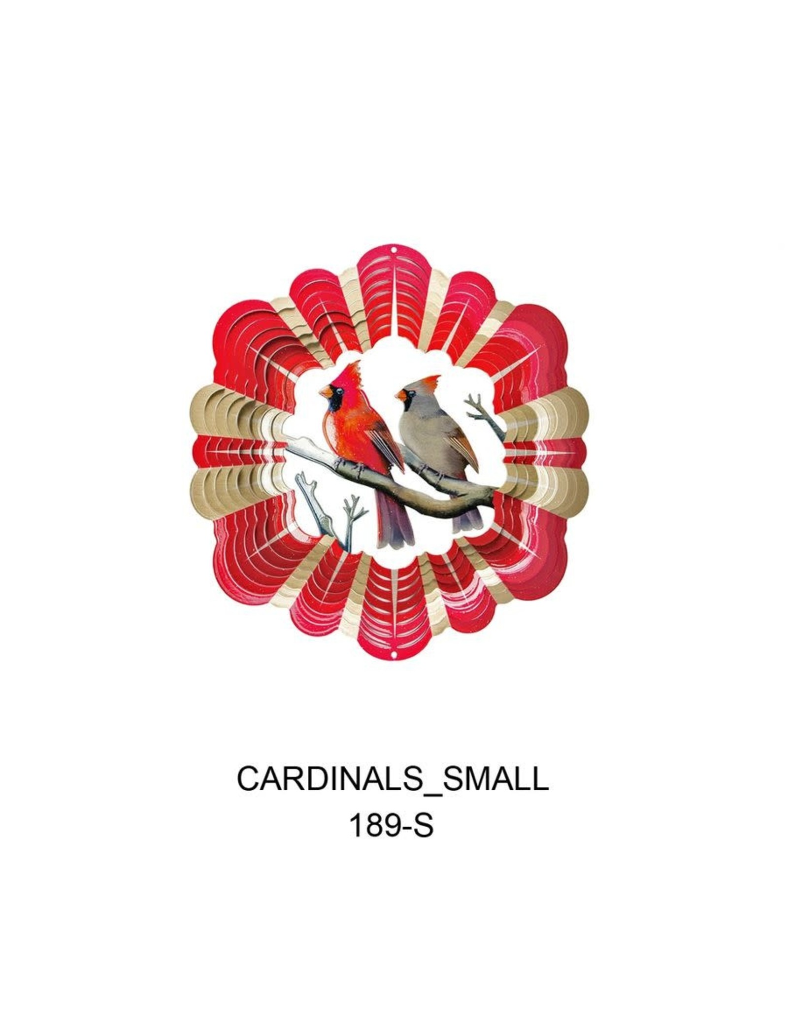 Spinfinity Designs CE189SS WIND SPINNER VIVID COLLECTION SMALL CARDINALS