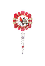 Spinfinity CE789SS SMALL Wind Spinner Cardinal with SMALL crystal twister