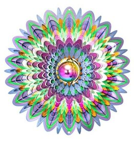 Spinfinity Designs CE555L Large Gazing Ball Mandela Wind Spinner