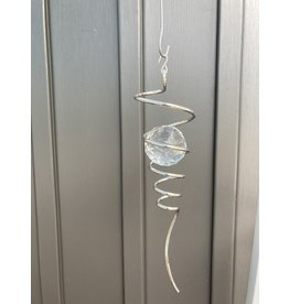 """Spinfinity Designs CE835LL 10"""" Spiral Tail Silver Clear Crystal Large"""