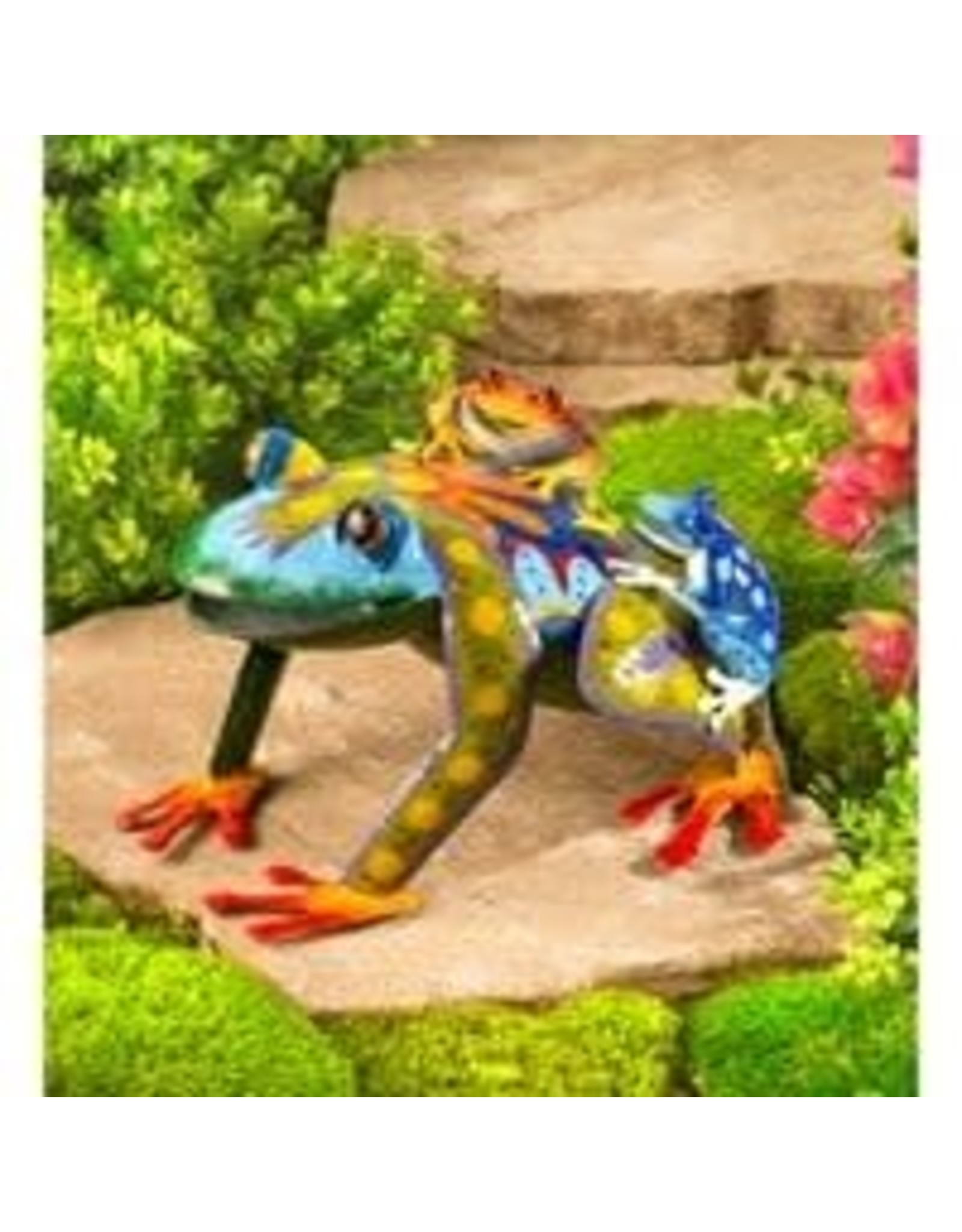 Evergreen EE3292 Metal Mama and Baby Frogs Sculpture