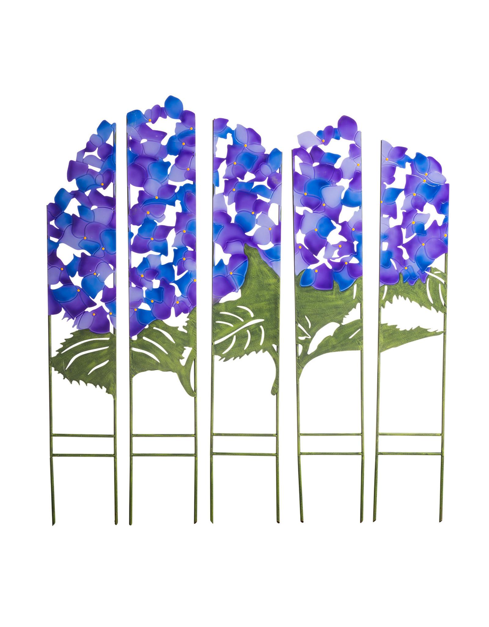 Evergreen EE3301 Hydrangea Garden Screen Metal Panel Stakes-set of 5