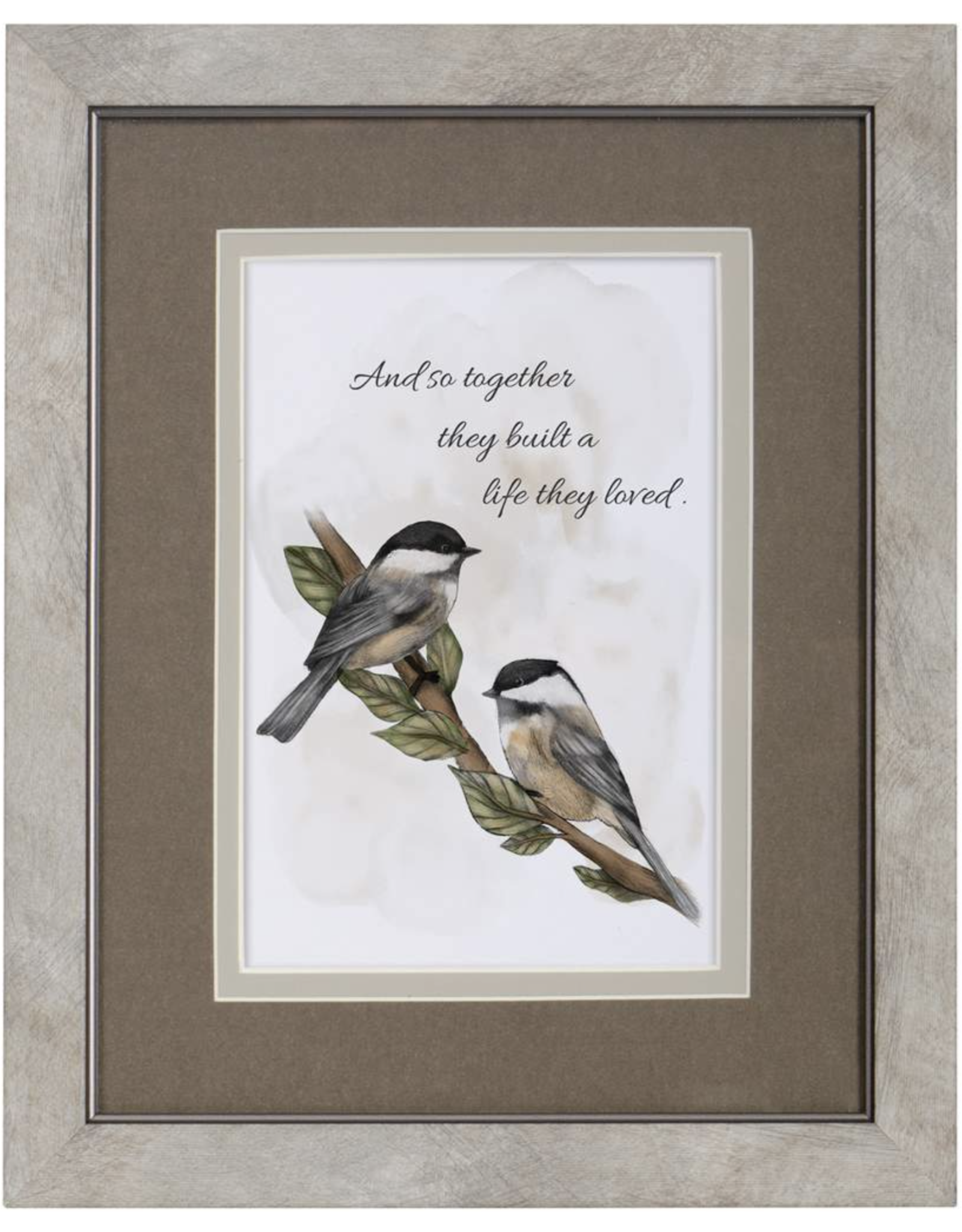 Carson EL23161 Framed Blessing - Chickadees Together