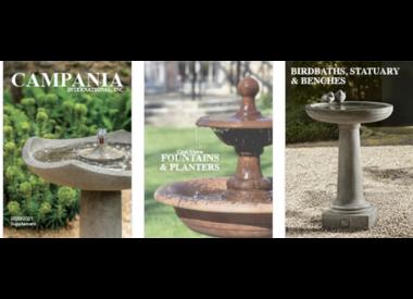 Campania Cast Stone Birdbaths and Birdbath Fountains