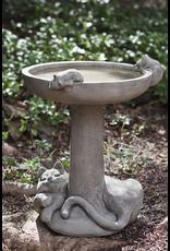 Campania CIB127 Cast Stone Cat Nap Birdbath in Natural