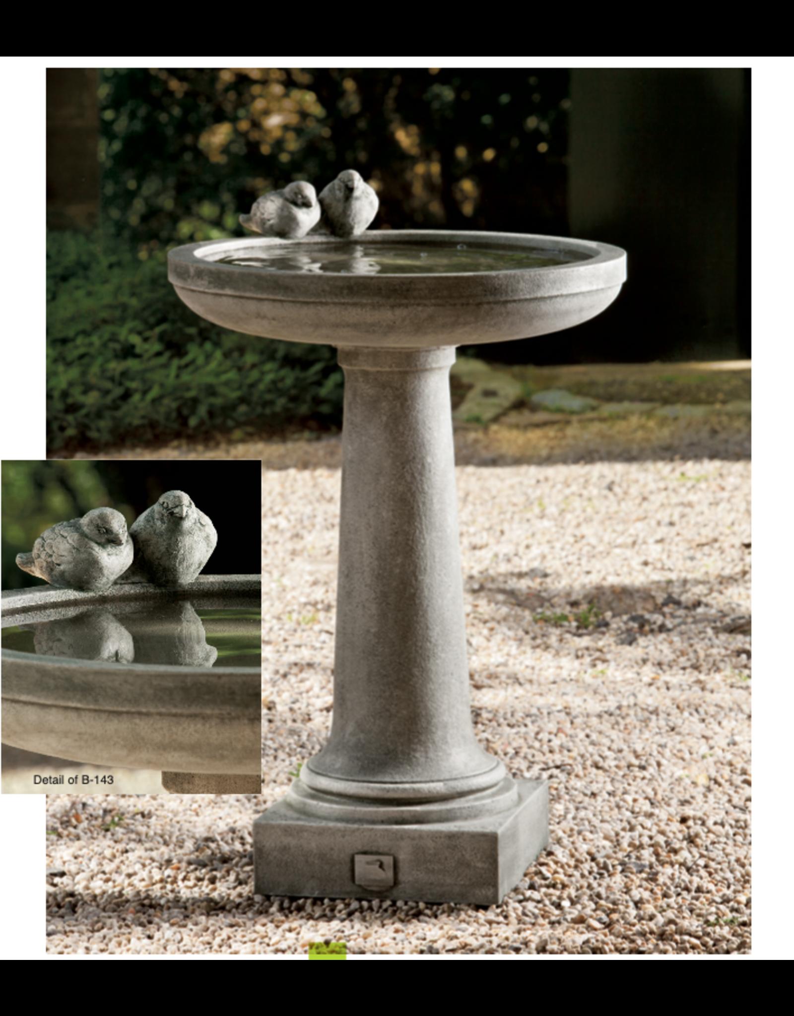 Campania CIB143 Cast Stone Juliet Birdbath