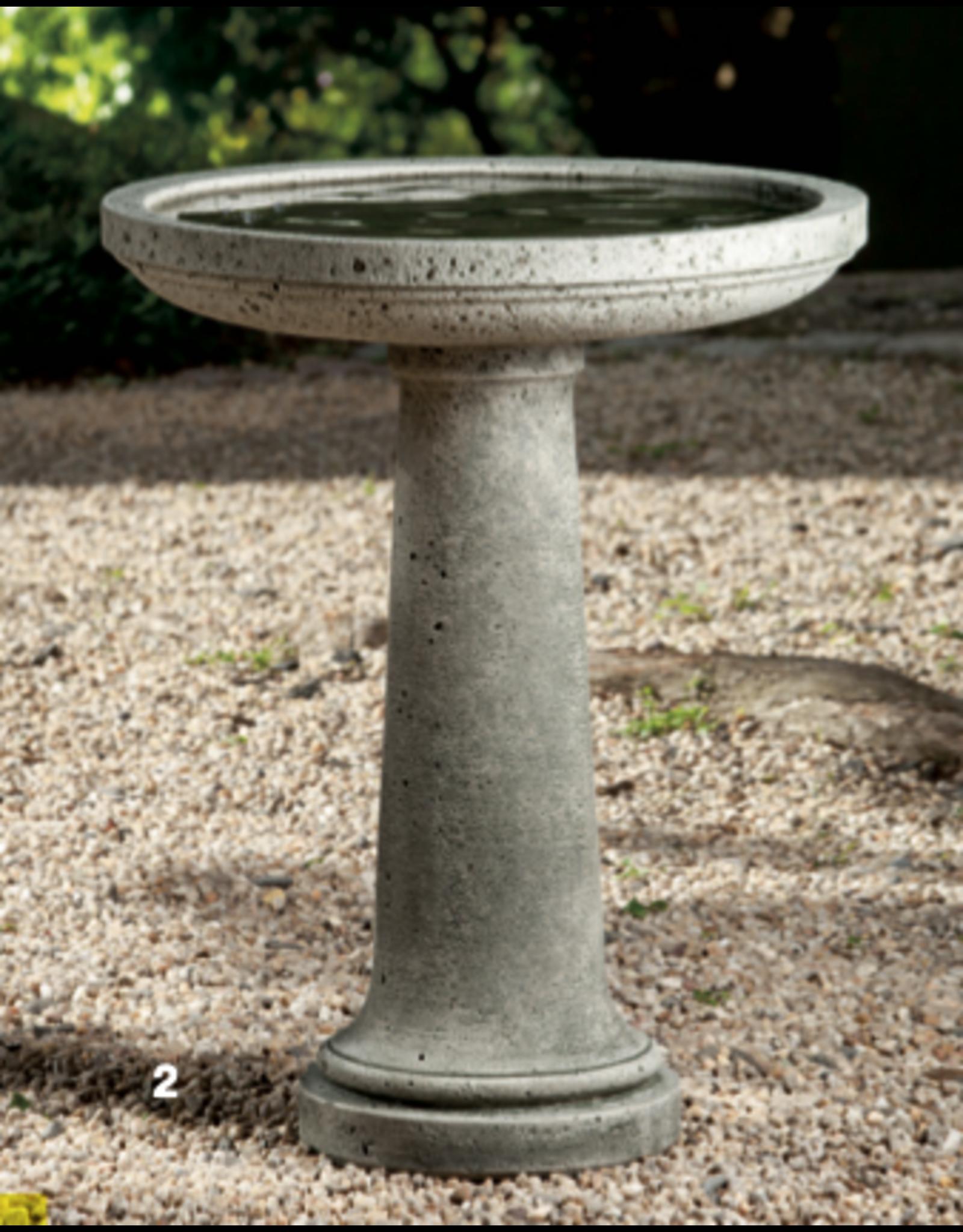 Campania CIB146 Cast Stone Isleboro Birdbath in Natural