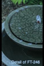 Campania CIFT246 Cast Stone Cirrus Birdbath Fountain in Natural
