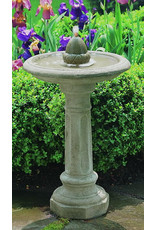 Campania CIFT31 Cast Stone Acorn Birdbath fountain in Natural