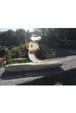 The Glass Bakery GBPUFF Baked Glass Puffin with Perch