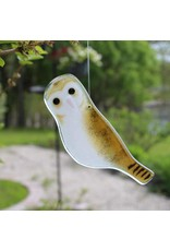 """The Glass Bakery GBOWL Baked Glass Hanging  Barn Owl-4"""""""