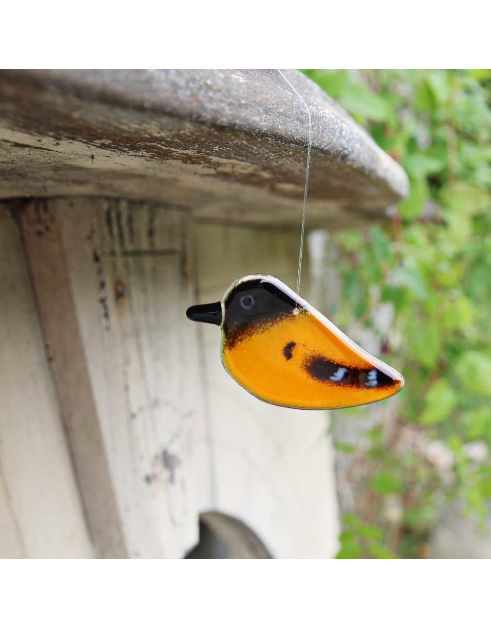 """The Glass Bakery GBBALT Glass Baltimore Oriole Chick Hanging- 2.75"""""""