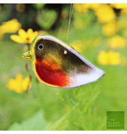 """The Glass Bakery GB-ROBINA Baked Glass Adult Robin, Hanging-3.5"""""""