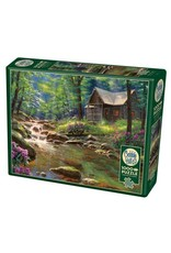 Cobble Hill Puzzles OM80313 Cobblehill Puzzle 1000pc Fishing Cabin