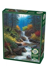 Cobble Hill Puzzles OM80230 Cobblehill Puzzle 1000pc Mountain Cascade