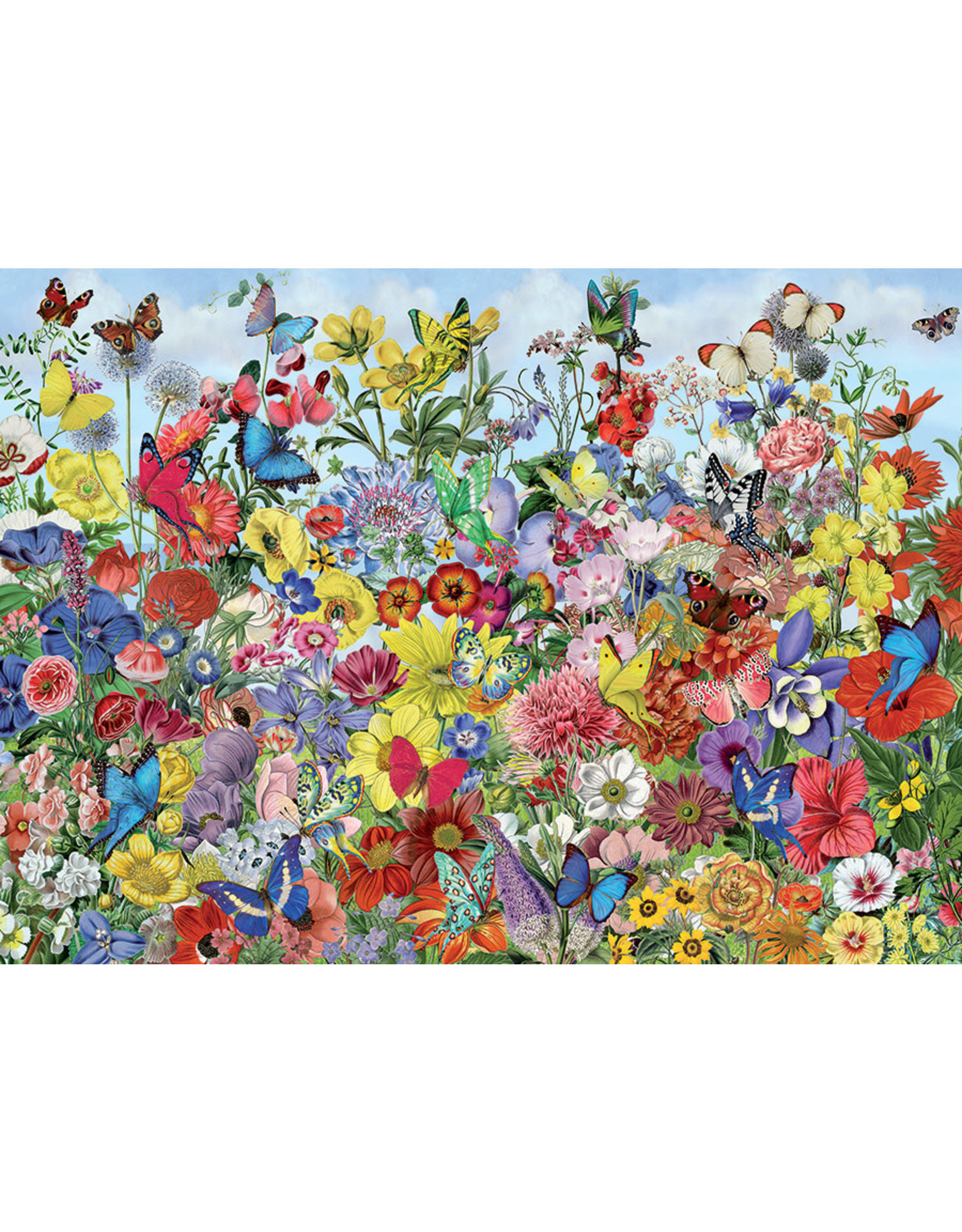 Cobble Hill Puzzles OM80032 Cobblehill Puzzle 1000pc Butterfly Garden