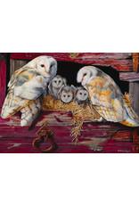 Cobble Hill Puzzles OM80052 Cobblehill Puzzle 1000pc Barn Owls