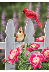 Cobble Hill Puzzles OM80010 Cobblehill Puzzle 1000pc Cardinals and Peonies