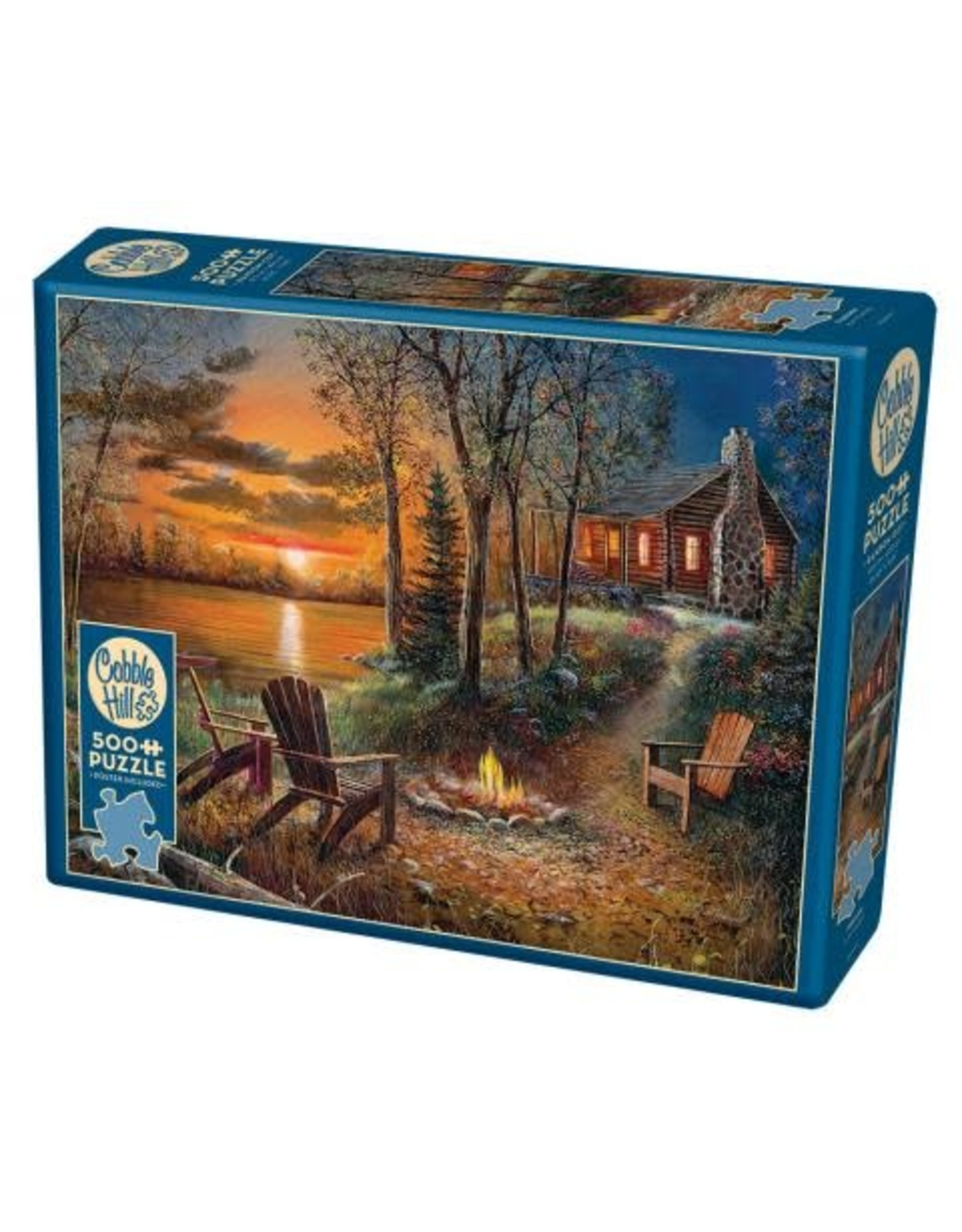 Cobble Hill Puzzles OM85009 Cobblehill Puzzle 500pc Fireside