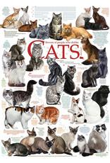 Cobble Hill Puzzles OM80095 Cobblehill Puzzle 1000pc Cat Quotes