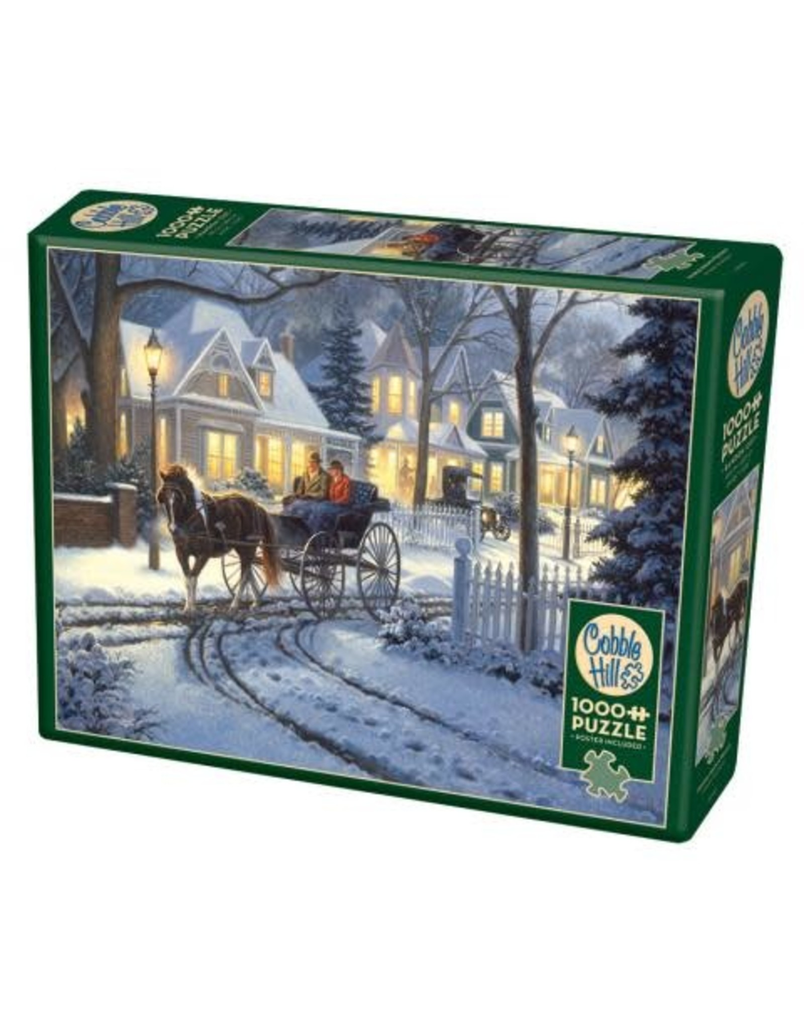 Cobble Hill Puzzles OM80128 Cobblehill Puzzle 1000pc Horse Drawn Buggy