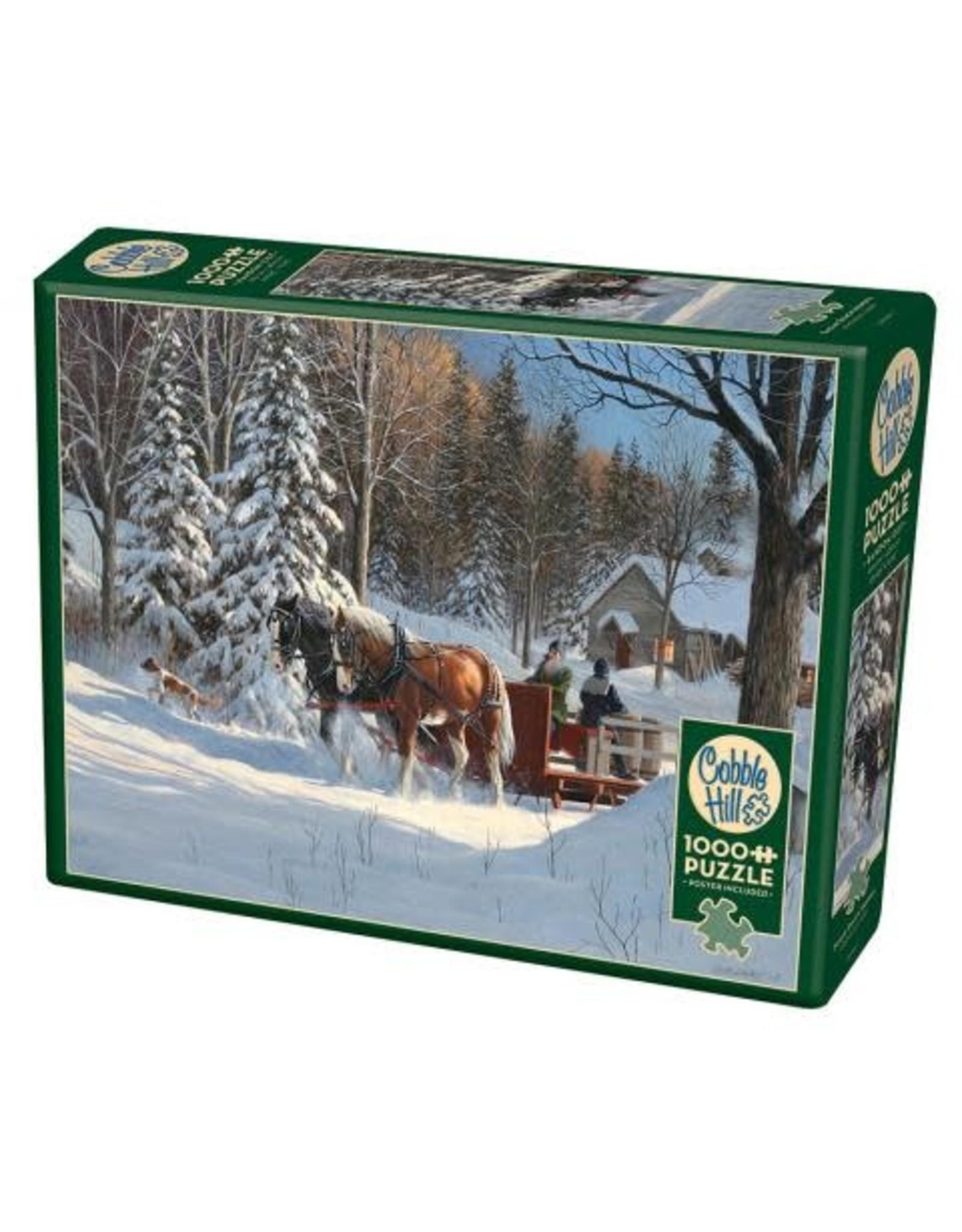 Cobble Hill Puzzles OM80067 Cobblehill Puzzle 1000pc Sugar Shack Horses