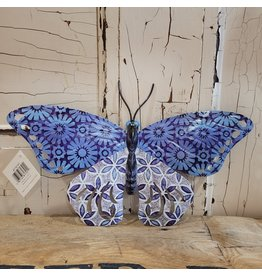 GiftCraft GC716147a Butterfly Blue Wall decor metal