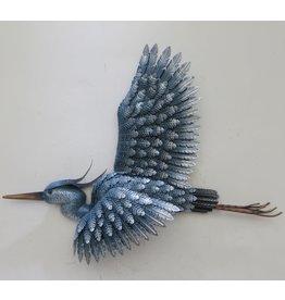 Action Imports AI9434 Blue Heron metal wall hang