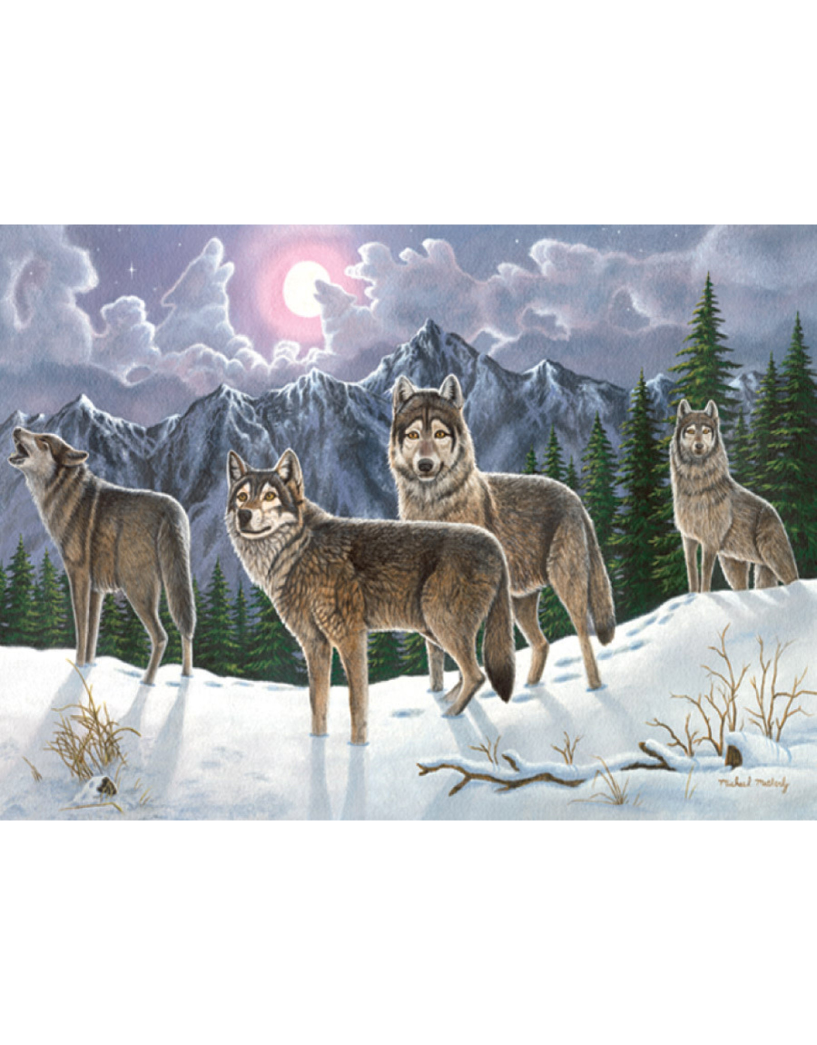 Royal & Langnickel OM14027 Paint by number 13pc Wolves
